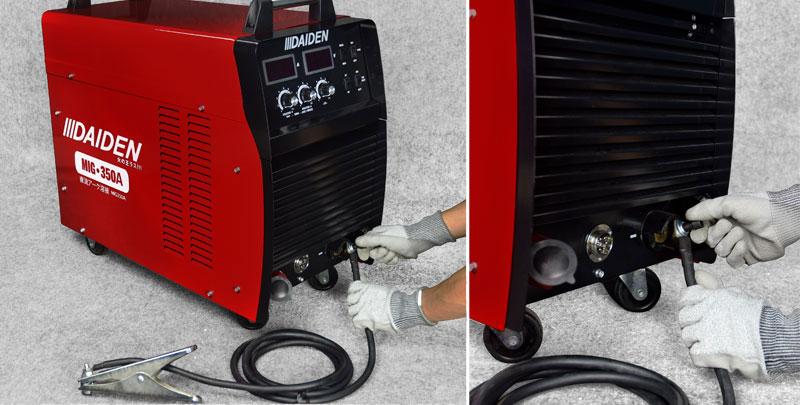 Jual-Mesin-Las-Listrik-Industri-Industrial-Welding-Machine-Daiden-MIG-350-Cara-Memasukkan-dan-memasang-kabel-minus