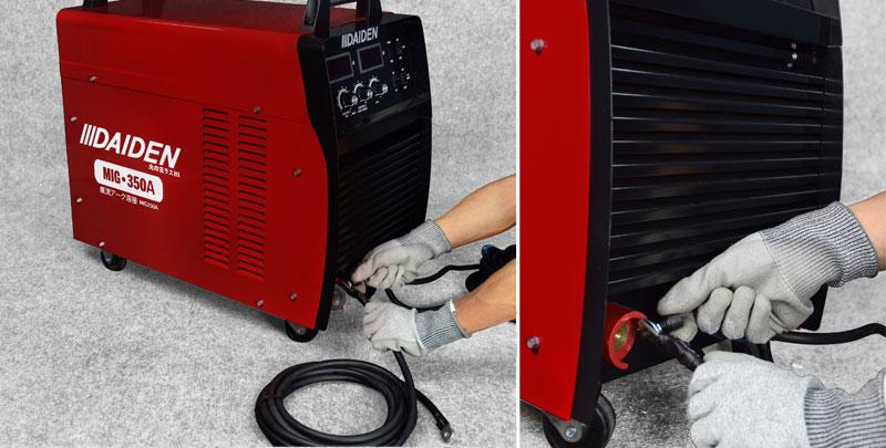 Jual-Mesin-Las-Listrik-Industri-Industrial-Welding-Machine-Daiden-MIG-350-Cara-Memasukkan-dan-memasang-kabel-plus