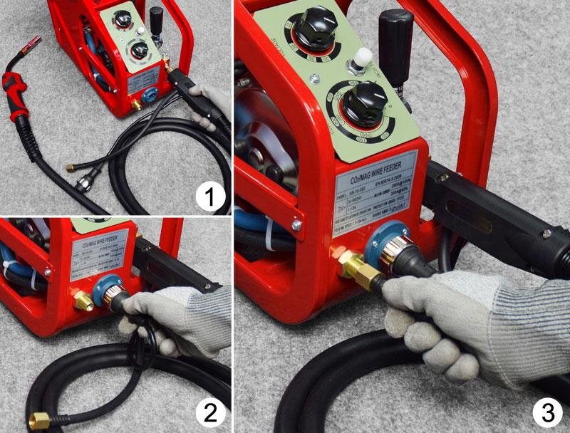 Jual-Mesin-Las-Listrik-Industri-Industrial-Welding-Machine-Daiden-MIG-350-Cara-Memasukkan-dan-memasang-kabel-untuk-mengelas