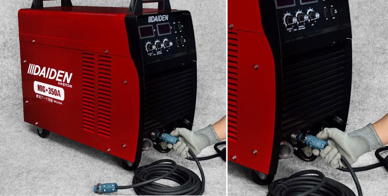 Jual-Mesin-Las-Listrik-Industri-Industrial-Welding-Machine-Daiden-MIG-350-Cara-Memasukkan-dan-memasang-kabel