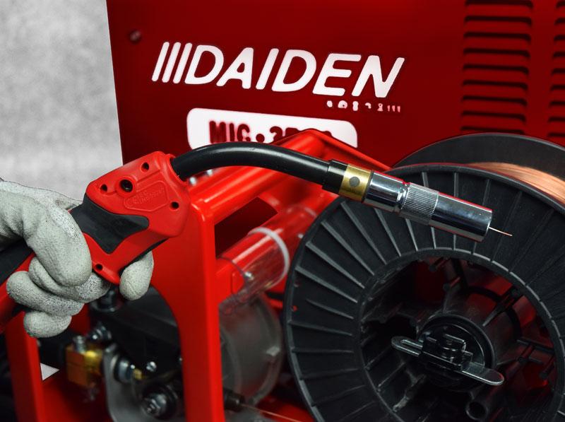 Jual-Mesin-Las-Listrik-Industri-Industrial-Welding-Machine-Daiden-MIG-350-Tekan-Tombol-Las-untuk-mengeluarkan-kawat