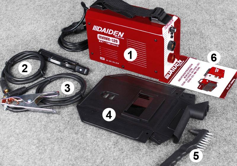 Jual-Mesin-Las-Listrik-Welding-Machine-Daiden-MMai-120-Aksesoris