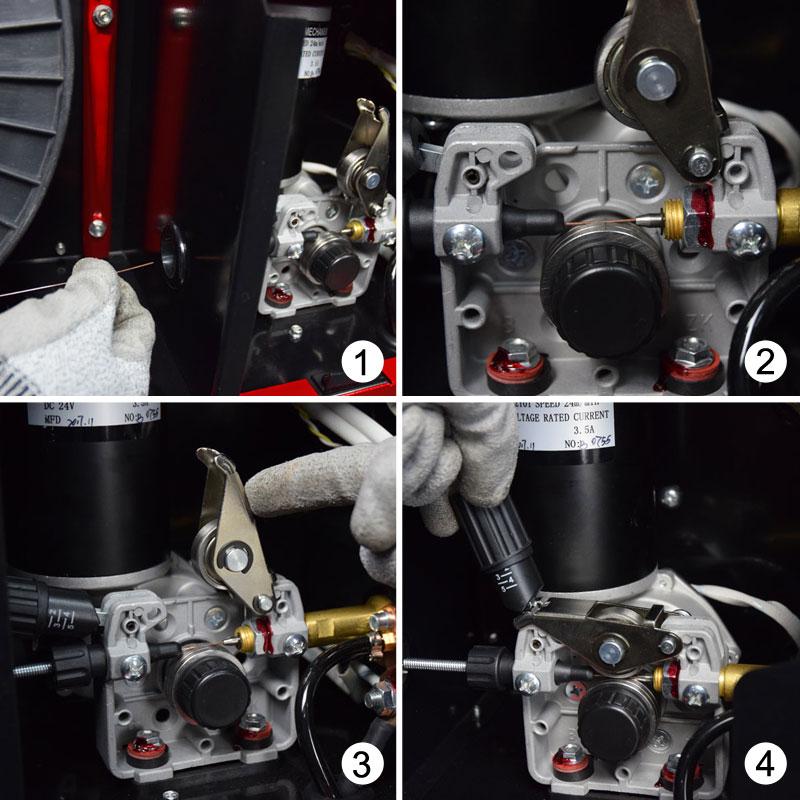 Jual-Mesin-Las-Listrik-Industri-Industrial-Welding-Machine-Daiden-MIG-250-Cara-Kawat-Las-pada-Spin-Roll-Wheel