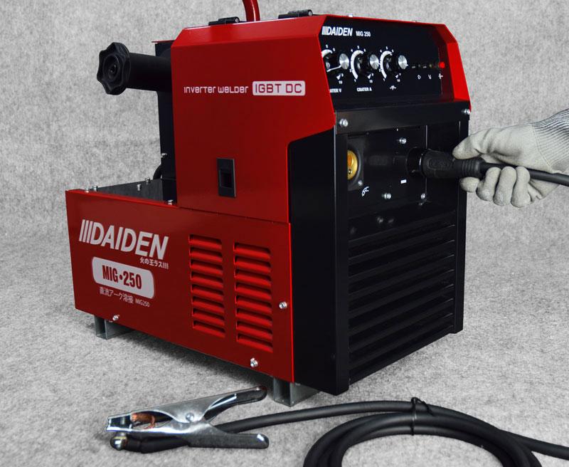 Jual-Mesin-Las-Listrik-Industri-Industrial-Welding-Machine-Daiden-MIG-250-Cara-Memasukkan-dan-memasang-kabel-minus