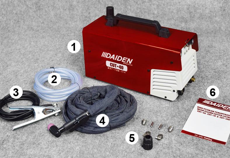Jual-Mesin-Las-Potong-Cutting-Machine-Plasma-Cutter-Daiden-CUT-40-Aksesoris-Yang-didapat