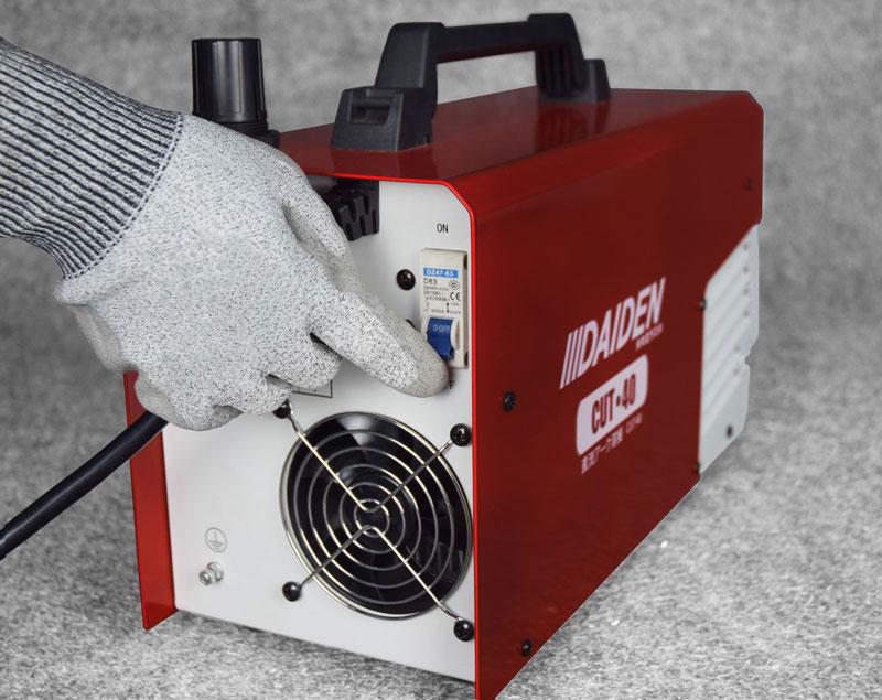 Jual-Mesin-Las-Potong-Cutting-Machine-Plasma-Cutter-Daiden-CUT-40-Lokasi-Saklar-On-dan-Off