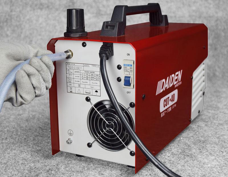 Jual-Mesin-Las-Potong-Cutting-Machine-Plasma-Cutter-Daiden-CUT-40-Lokasi-Selang-Udara-Kompresor